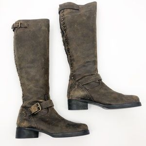 Tory Burch Tarulli distressed Over the knee boots